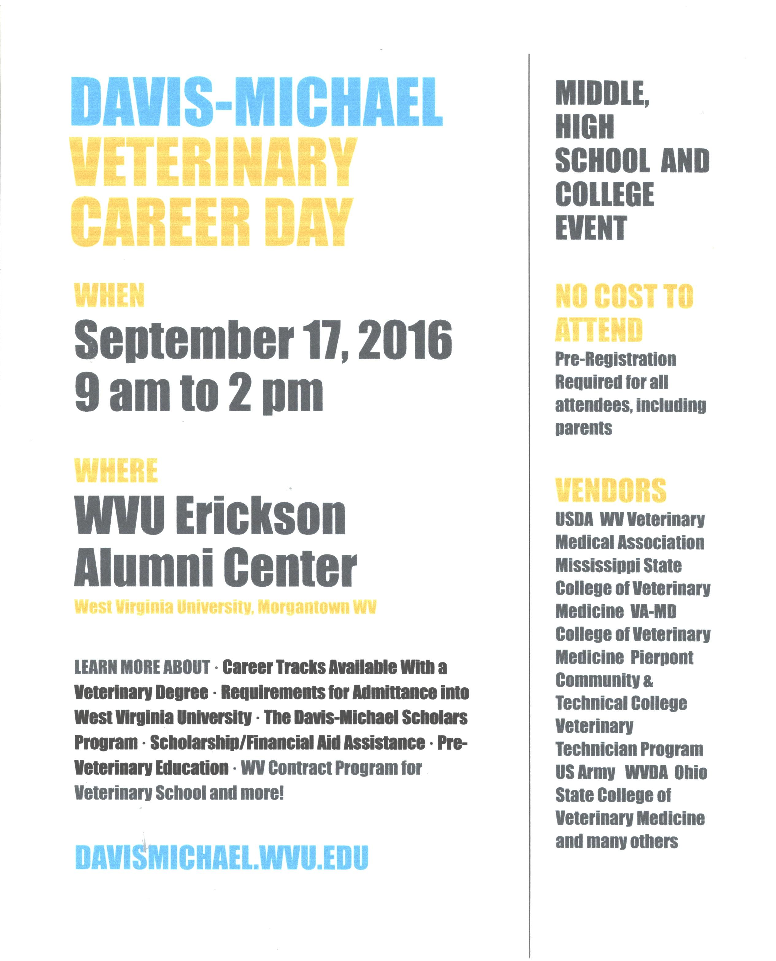 Davis-Michael Veterinary Career Day